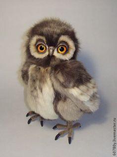 Совёнок Андрюшка - коричневый,сова,совушка,совы,совенок,сова игрушка,совушки