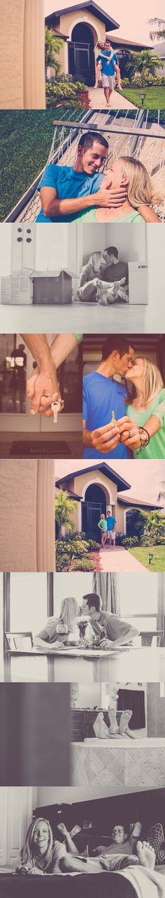 Photos of a couple in their new home from Ashfall Mixed Media featured on OneCharmingFamily.com