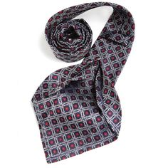 Petronius 1926 italian handmade navy with red ornament 5 fold silk tie 8,5 cm ( art. 478 ), $149