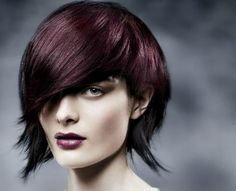 "Seeing Red - : ""We took red in every direction, from deep to bright, for this collection. We played with  the full palette of red tones — violet, copper, orange — and found there's a match for every  skin tone, every hair cut. Reds are ideal for the strong, precise hair cuts we're seeing this  season. Saturated violet/red color allows this cut's shape to come through, and color  blocking lights up the multi-directional layers like a prism.""  Ian Michael Black  Aveda Artistic Director, Hair…"