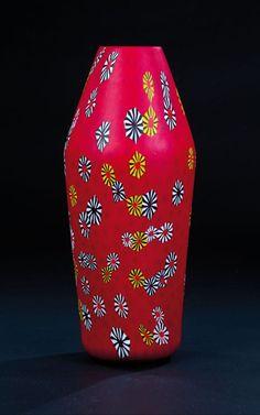 "Vase ""kiku sparse"" Ermanno Toso, Fratelli Toso, Murano, 1955."