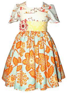 Charlotte Dress (sleeve) ~ Meadow — My Addies Attic