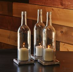 Outdoor table ambience. Moonshine Lamp - Candle Hurricanes