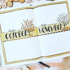 Well, hello gorgeous! #Repost @mimitsudoodles ・・・ I created a similar page last month and because I liked the idea I did it again! :blush::leaves::maple_leaf::fallen_leaf::revolving_hearts: . . .  #bulletjournal #november #planner #bujo #bujojunkies #mont