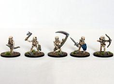 Skeletons fantasy miniatures set 3d printed