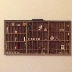 Letterpress drawer wall display