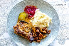 Långstekta kotletter i timjansås Lchf, 20 Min, Broccoli, French Toast, Food And Drink, Meat, Chicken, Breakfast, Inspiration