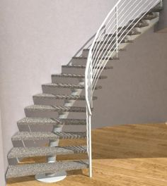 Modern Curved Metal Single Stringer Staircase Curved Staircase, Stair  Gallery, Stairs Stringer, Curves