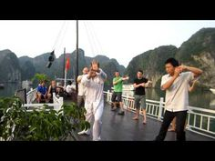 Wu Dang Tai Chi Exercise on V'Spirit Classic Cruise in Halong Bay Visit Vietnam, Vietnam Travel, Tai Chi Exercise, Tai Chi Qigong, Local Legends, Health Heal, Travel Information, Hanoi, Natural Wonders