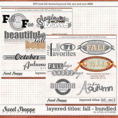 Cindy's Layered Titles - Fall Bundled Set by Cindy Schneider
