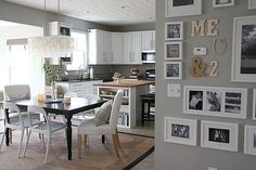 """gluestickgirl: """" : CHI - Dana's DIY Modern Casual Home : Apartment Therapy love the mix of frames and letters """" House Tweaking, Sweet Home, Grey Walls, My Living Room, Apartment Therapy, My Dream Home, Just In Case, New Homes, Wall Decor"""