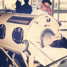 Respiratory Therapy Iron Lung Ventilator in the 1960s