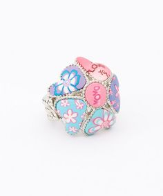 Another great find on #zulily! Silver  Precious Pink Candy Hearts Stretch Ring #zulilyfinds