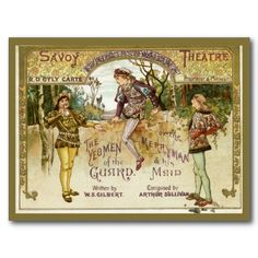 The Yeomen of the Guard Post Card #vintage #doylycarte #theatre #programmes @First Night Design