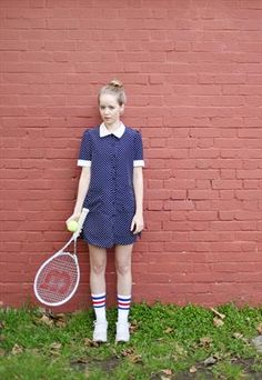 BUTTON UP DOT MINI DRESS