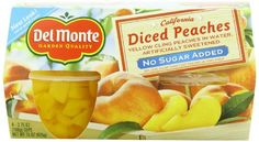 Del Monte Diced Peaches packed in water , artificially sweetened No Sugar Added, 15-Ounce (Pack of 6) * Find out more details @ : Quick dinner ideas.