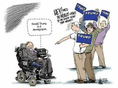 Stephen Hawking, Trump supporters