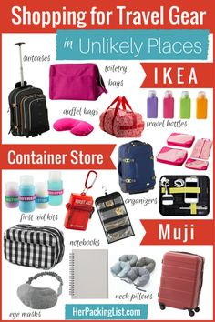Did you know all the cool stuff you can get for travel at IKEA or the Container Store?! What about hardware stores?