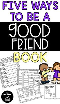 Have each student create their own book about being a good friend. #beingagoodfriend #friendshipbook