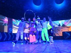Our roller dancers at the VMWorld's Party Barcelona 2013