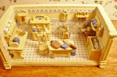 """A Small Hearts Desire: Lew Kummerow 1/144"""" tiny kitchen play set 2015 NAME National Miniature Convention"""
