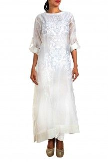 Designer White Embroidered Kurta By Samant Chauhan  Rs. 12,000