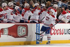 - Habs vs Pens - Brendan Gallagher of the Montreal Canadiens celebrates his goal with the bench during the second period against the Pittsburgh Penguins at Consol Energy Center in Pittsburgh, Pennsylvania. (Photo by Gregory Shamus/NHLI via Getty Images) Golden Knights, Montreal Canadiens, Pittsburgh Penguins, Hockey Players, Pennsylvania, Nhl, Pens, Period, Two By Two