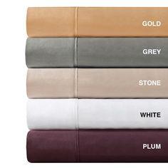 OLLIIX - 600TC Pima Solid Cotton Sheet Set Queen White