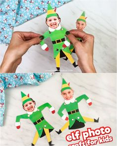 Turn your kids into Buddy the Elf with this simple paper craft for kids! Its a fun Christmas activity the whole family w Christmas Decorations For Kids, Christmas Crafts For Kids To Make, Christmas Activities For Kids, Christmas Paper Crafts, Paper Crafts For Kids, Christmas Fun, Best Gifts For Kids, Christmas Gifts For Family, Christmas Activities For Toddlers