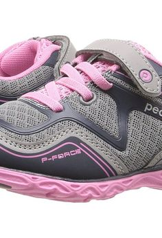 pediped Force Flex (Toddler/Little Kid/Big Kid) (Silver/Navy) Girl's Shoes - pediped, Force Flex (Toddler/Little Kid/Big Kid), RS3076, Footwear Closed General, Closed Footwear, Closed Footwear, Footwear, Shoes, Gift, - Fashion Ideas To Inspire