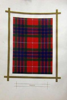 Scottish Highlands Clan Fraser Tartan Red Blue Green