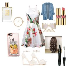 """""""Untitled #6"""" by patywillson on Polyvore featuring Nly Shoes, River Island, Casetify, Yves Saint Laurent, Lancôme, Evans, Summer, cute, outfit and teen"""