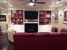 Utah Utes themed living room. #GoUtes! #UtahManCave