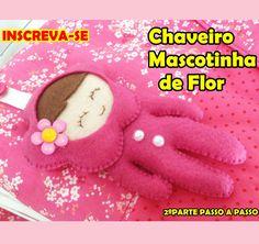 DIY Chaveiro Boneca de flor 2º parte Bolsa infantil