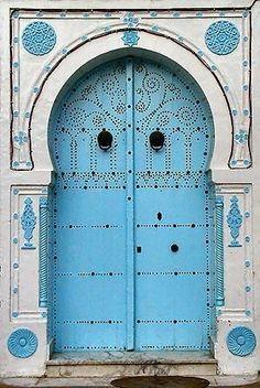 Blue Doors of Tunisia.