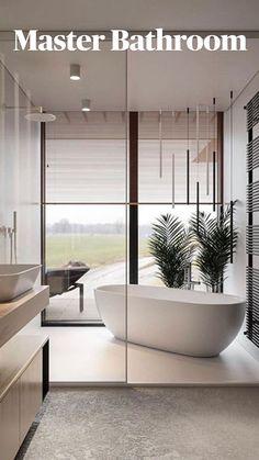 Dream Home Design, Modern House Design, Home Interior Design, Interior Designing, Luxury Interior, Modern Master Bathroom, Bathroom Small, Contemporary Bathrooms, Master Bathroom Designs