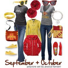 Cardinal & Gold! What to wear to Iowa State  games! #ISUWinningforPinning