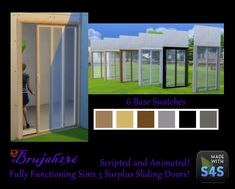 TS3 Scripted and Animated Functioning Slider Door Conversion / Sims 4 Custom Content