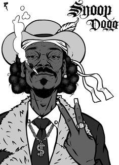 Arte Do Hip Hop, Hip Hop Art, Snoop Dogg, Arte Bob Marley, Dope Cartoons, Stoner Art, Rapper Art, Tupac Shakur, Street Graffiti