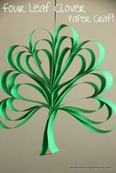 Paper Four Leaf Clover Craft for Kids - St. Patrick's Day