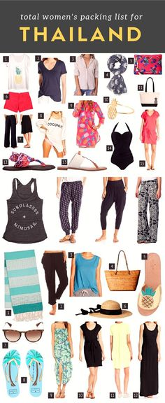 Thailand packing: Packing for Thailand: tips, woman's packing list and what to wear?… click through to read more: http://www.kohsamuisunset.com/packing/   Thailand packing list for a woman