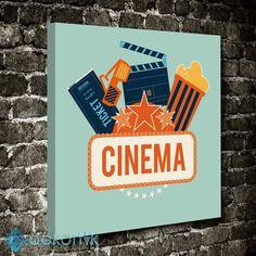 Vintage Cinema Tablo  #tipografi_tablo #tipografik_tablo #tipografi_kanvas_tablolar