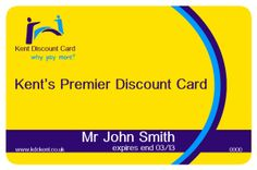 Raffle for 10 Kent Discount Cards  press the card and follow the link
