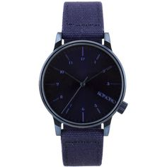 Mens Komono - Winston Heritage Watch Blue Stainless Steel ($78) ❤ liked on Polyvore featuring men's fashion, men's jewelry, men's watches, analog watches, blue, mens watches, watches, mens analog watches, mens stainless steel watches and mens watches jewelry