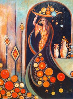 Middle Eastern Art, Arabian Art, African Paintings, Arte Pop, Egyptian Art, Arabesque, Islamic Art, Love Art, Watercolor Art