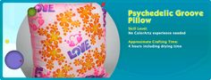 DIY Psychedelic Pillow