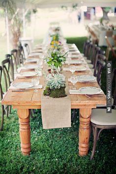 Simple Country Wedding Reception Table Idea | WEDDINGPINS.NET | #countryweddingreceptionideas2016