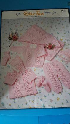 DK Tejer patrón instrucciones Bebé Niños Conjunto de Cardigan y sombrero Botines fácil lpeter