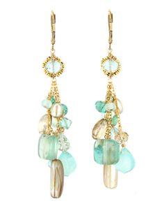 Dana Kellin - Fiji Mix Cluster Drop Earrings