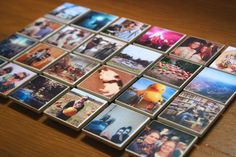 Make these for your dorm room mini fridge - DIY Instagram Magnets!
